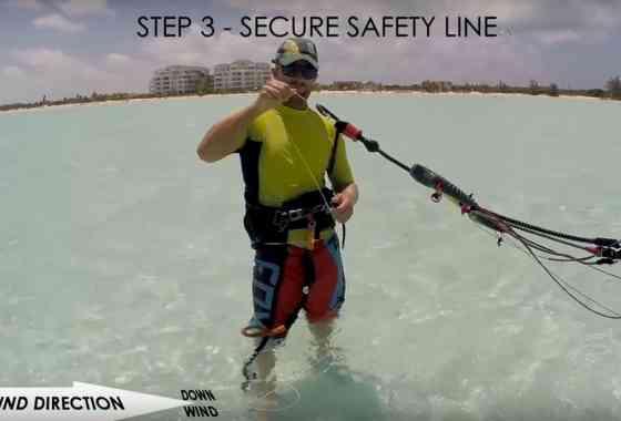 Kiteboard/Kitesurf self rescue tutorial